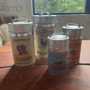 Ohio Wholesale Inc Country Kitchen Canister Set
